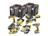 A Dewalt DCK665P3T XR Compact 6 Piece Wood Working Kit 18 Volt 3 x 5.0Ah Li-Ion